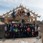 Building of a primary school in Tadjikistan with 5th year students (2018)